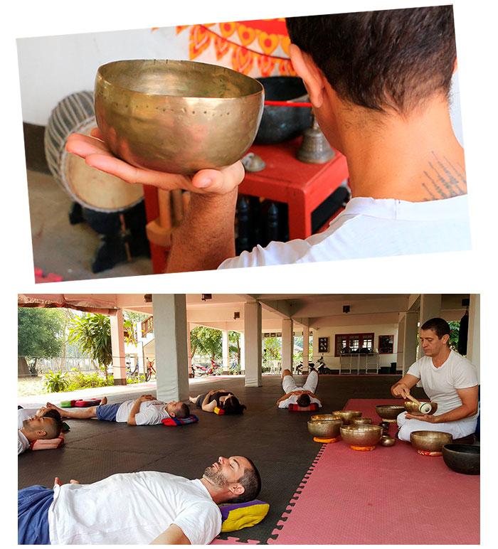 Pedro Solana teaches meditation practices as part of the muay thai spiritual warrior's path
